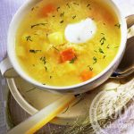 Рецепт пшeнного куриного супа в мультиварке
