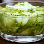 Салат из огурцов на зиму по-фински