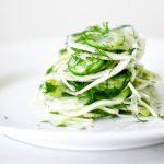 Салат из огурцов с фенхелем на зиму