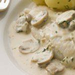Рыба в горшочке с белыми грибами
