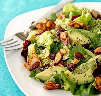 Салат авокадо с креветками рецепт с 120