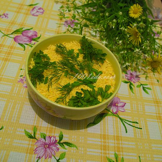 рецепт салата мимоза с печенью