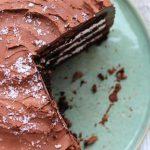 Шоколадный торт с маскарпоне в шоколадной глазури