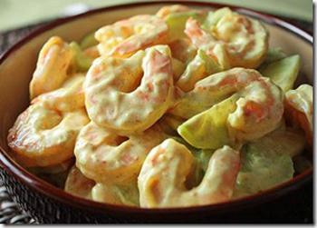 салат с креветками и маринованными шампиньонами рецепт