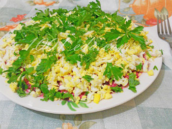рецепт салата с соленой скумбрией рецепт с фото