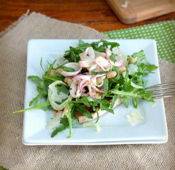 Салат кальмары с грибами фото рецепт