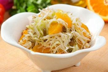 Салат из капусты с апельсином