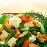 Салат деликатесный из цветной капусты