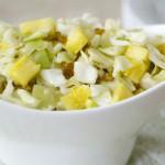 Салат из ананасов и капусты