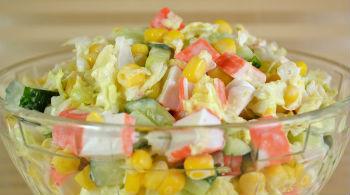 Как приготовить салат из крабовых палочек и пекинской капусты