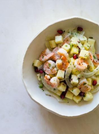 салат с креветками и гранатом рецепт фото