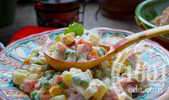 рецепт салата с грецким орехом и ананасом рецепт