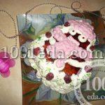 """Торт """"Гламурный снеговичок с малиной"""": рецепт с пошаговым фото"""