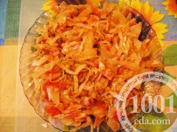 Тушеная капуста с помидорами пошаговый рецепт с фото
