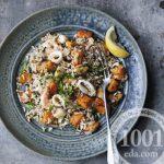Плов с диким рисом и морепродуктами
