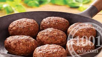 Рецепт мясных котлет с кинзой