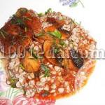 Котлеты с грибами и перцем в соусе: рецепт с пошаговым фото