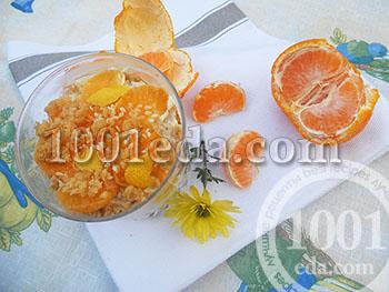 Как приготовить простой десерт с мандаринами