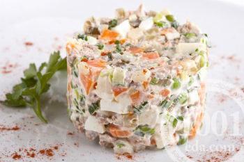салат зимний с шампиньонами рецепт