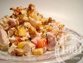1001 рецепт салат с ананасом