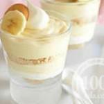 Банановый десерт с ванильным пудингом