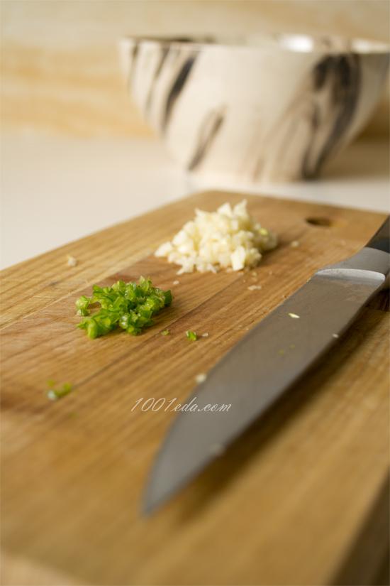 Вкусный салат из зеленых помидоров