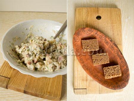 Канапе с сельдью – кулинарный рецепт