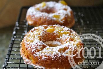 рецепт пончиков с яблоками