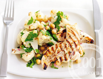 Салат из цветной капусты и курицы