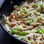 Салат из белокочанной капусты с фасолью