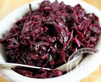 фиолетовая капуста рецепты приготовления тушеная