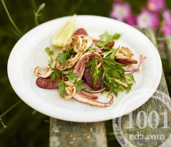 Рецепт салата с кальмарами от Дж. Оливера