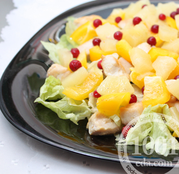 курица с ананасами рецепт салат простой