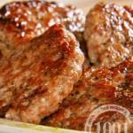 Котлеты из мясного фарша как для колбасы