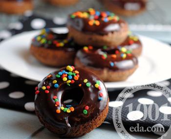рецепт пончиков в шоколадной глазури