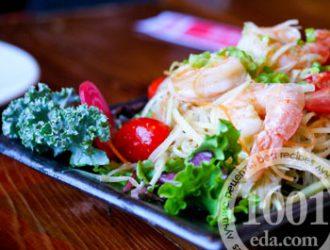 Салат из креветок очищенных рецепт с очень вкусный