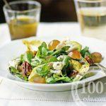 Салат из капусты со свининой и виноградом