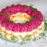 Заливной салат селедка под шубой