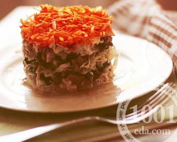 Рецепт селедки под морковной шубой