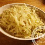 Салат из вареной капусты с растительным маслом