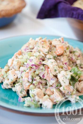 Салат из кальмаров традиционный рецепт