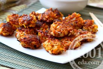 Рецепт морковных котлет с орехами