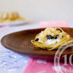 Тарталетки Валентин из спагетти с сырной начинкой: рецепт с пошаговым фото