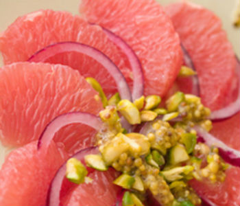 Острый салат из грейпфрута