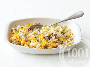 Вкусный рис на гарнир с кукурузой