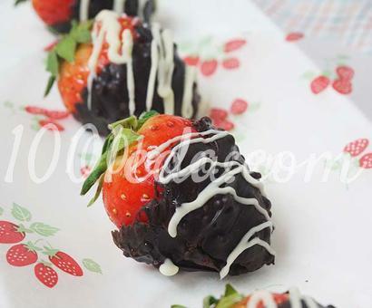 Десерт Клубника в шоколаде
