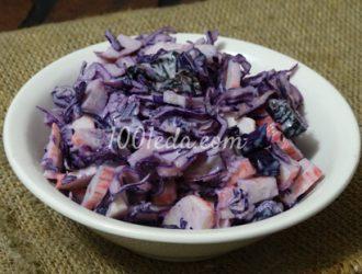 Салат из крабовых палочек и красной капусты рецепт очень вкусный