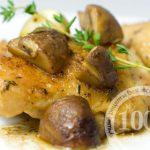 Куриные окорочка под сырно-молочным соусом