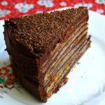 Торт из гречневых блинов с шоколадной начинкой