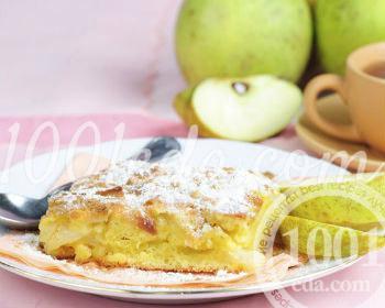Рецепт манника с яблоками на кефире